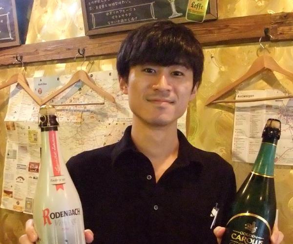 ベルギービールと焼き鳥の店 なかい 天満橋店 店長 浜月 侑祐さん(28才)