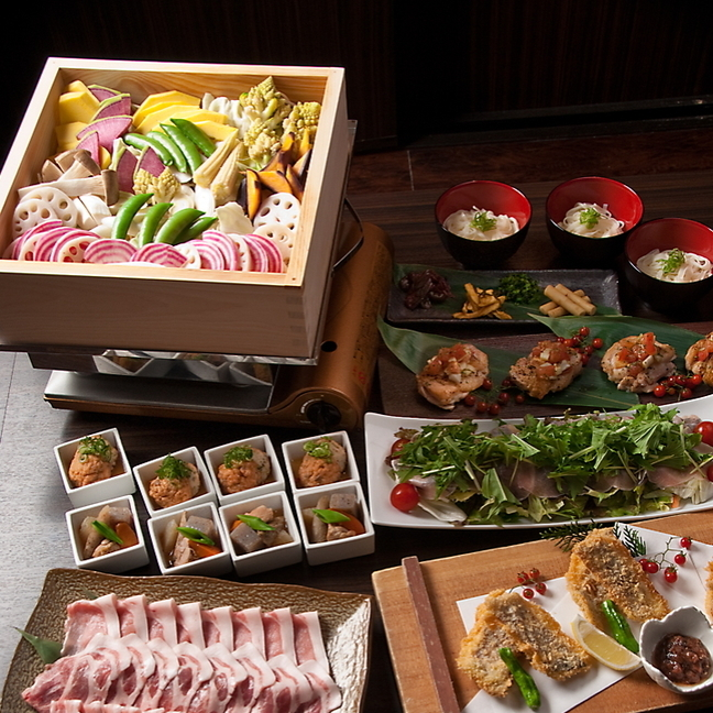 座和めき 浜松町 <産直活魚・旬の素材料理・豚しゃぶしゃぶ・炭火焼>