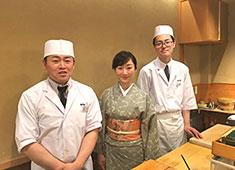 寿司政 老舗と言われますが、スタッフは意外にも30代や40代が多いです。