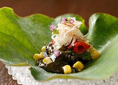 日本料理 みや ▲色彩や盛り付けにもこだわった五感で楽しめる日本料理