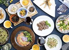 銀座2丁目ミタスカフェ 季節を彩る旬の食材。一品一品に手作りの温かさが伝わる丁寧で優しいメニューでお客様を癒します。