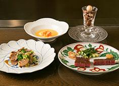 株式会社うかい 洋食事業部 トランプ大統領が食したメニューです。最高級の食材を世界中から集めています。