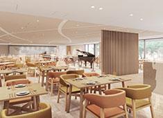 センコークリエイティブマネジメント株式会社 東京イーストサイド「ホテル 櫂会」 求人 メインダイニングは「健康」をテーマにしたブッフェスタイルのレストラン。ライブキッチンも展開予定。