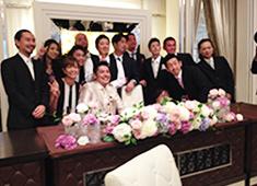 「雅屋」「まさや」「魚雅」「サンハウス」「まさや食堂」「みやび」/株式会社Ripple 求人 会社としても嬉しい出来事。スタッフの結婚式にはみんなで駆けつけることも!