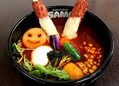 Curry&Cafe SAMA仙台 大学病院前 「V(ヴィクトリー)つくねカリー」 SAMAでは店舗ごとに毎月オリジナルメニューを創作しています。